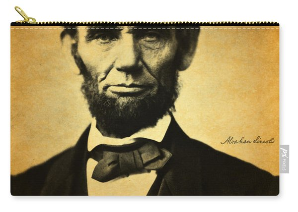Abraham Lincoln Portrait And Signature Carry-all Pouch