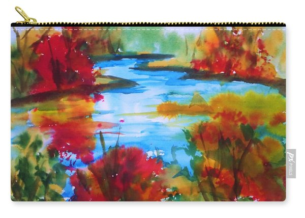 Abstract - Autumn Blaze On Catskill Creek Carry-all Pouch