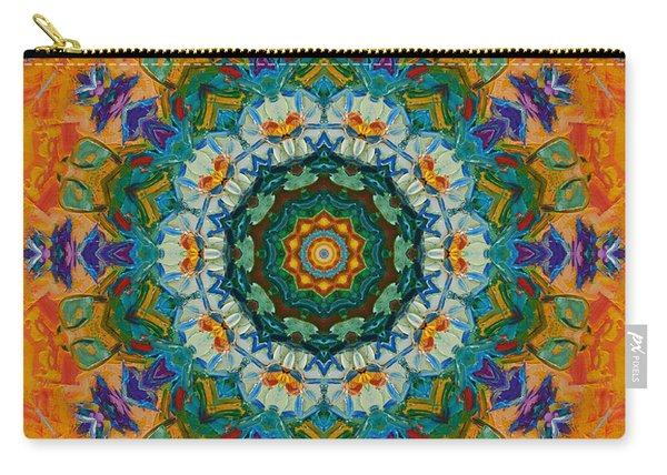 Abstract Aztec Sun Carry-all Pouch
