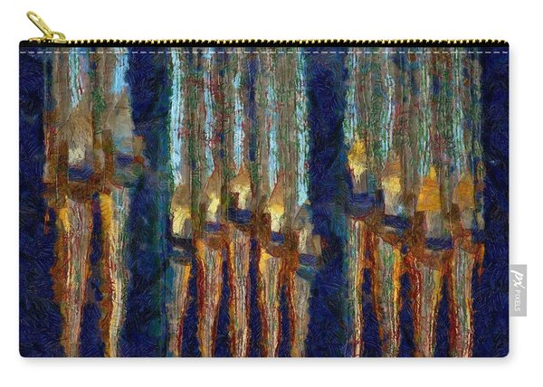 Abstract Blue And Gold Organ Pipes Carry-all Pouch