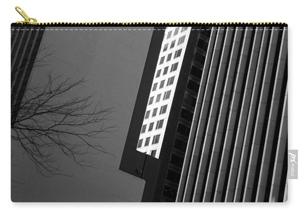 Abstract Building Patterns Black White Carry-all Pouch