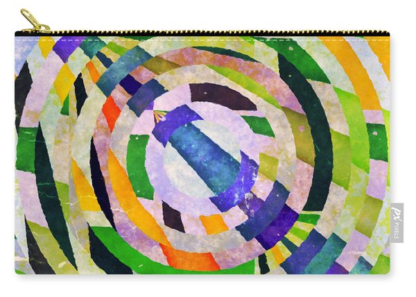 Abstract Circles Carry-all Pouch