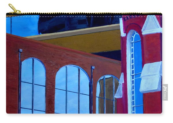 Abstract City Downtown Shreveport Louisiana Urban Buildings And Church Carry-all Pouch