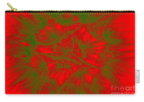 Carry-all Pouch featuring the photograph Abstract Dandelion Bloom by Mae Wertz