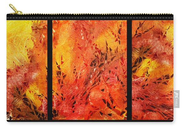 Abstract Fireplace Carry-all Pouch