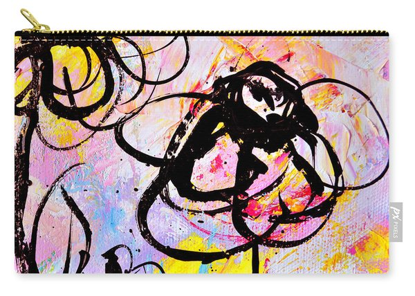 Abstract Flowers In Pink 3 Carry-all Pouch