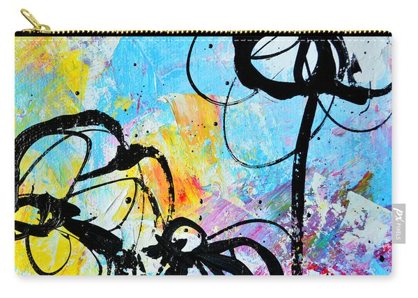Abstract Flowers Silhouette 6 Carry-all Pouch