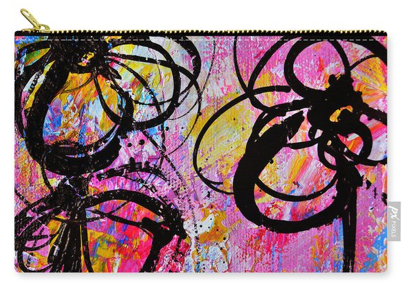 Abstract Flowers Silhouette 7 Carry-all Pouch
