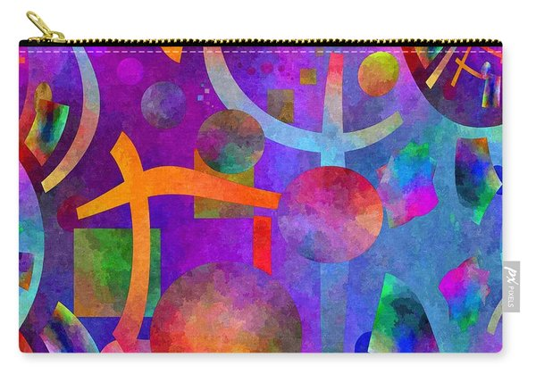 Abstract Fractillious - Episode One  Southwestern Carry-all Pouch