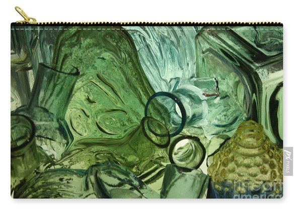 Abstract In Green Carry-all Pouch