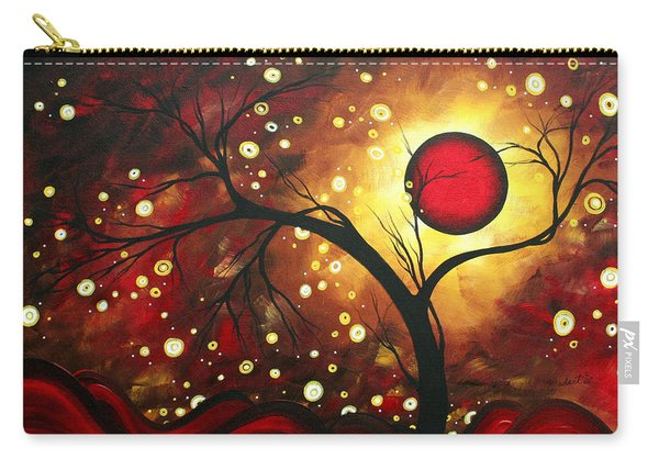 Abstract Landscape Glowing Orb By Madart Carry-all Pouch