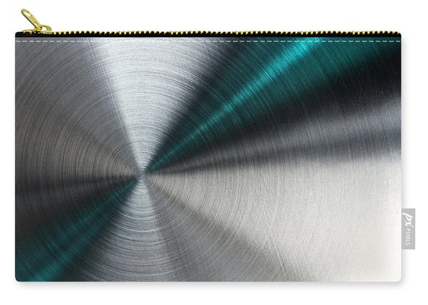 Abstract Metallic Texture With Blue Rays. Carry-all Pouch
