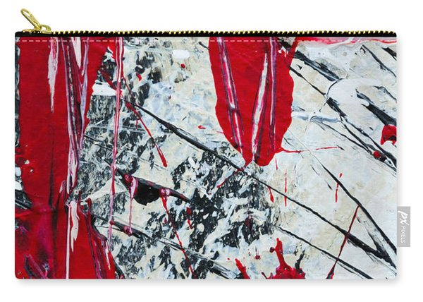 Abstract Original Painting Untitled Nine Carry-all Pouch