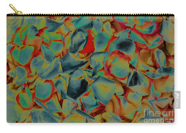 Carry-all Pouch featuring the photograph Abstract Rose Petals by Mae Wertz