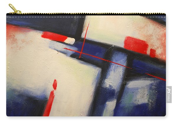 Abstract Red Blue Carry-all Pouch