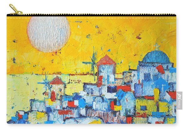 Abstract Santorini - Oia Before Sunset Carry-all Pouch