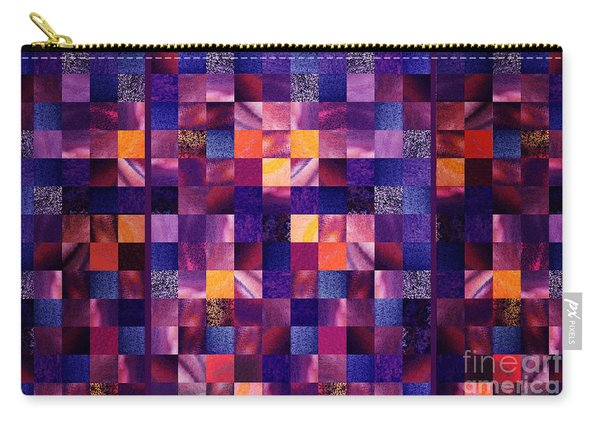 Abstract Squares Triptych Gentle Purple Carry-all Pouch