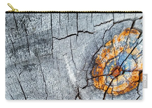 Abstract Woodgrain Upclose 6 Carry-all Pouch