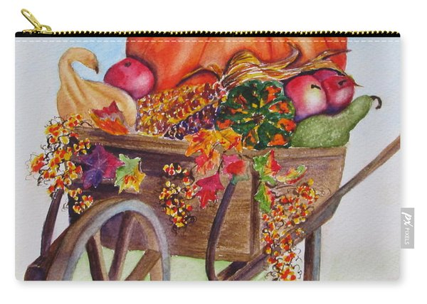 Carry-all Pouch featuring the painting Abundance  by Diane DeSavoy