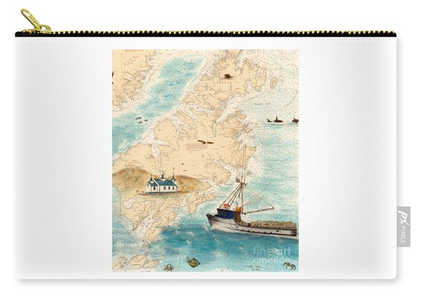 Accomplice Kodiak Crab Fishing Boat Cathy Peek Nautical Chart Map  Carry-all Pouch
