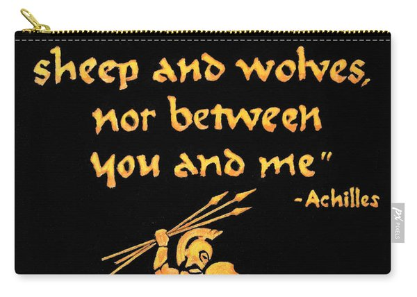 Achilles Admonition Carry-all Pouch