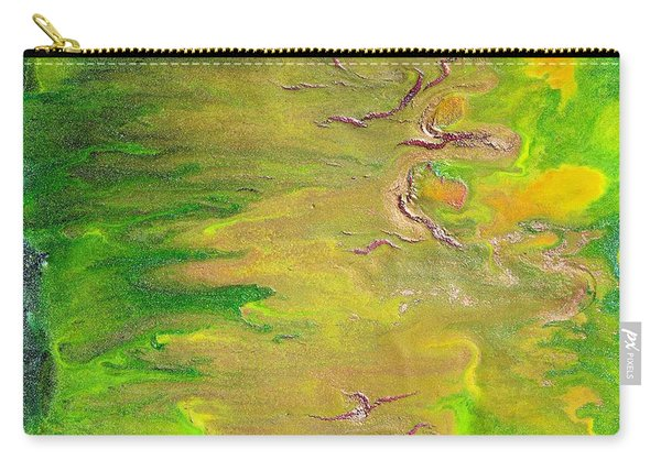 Acid Green Abstract Carry-all Pouch