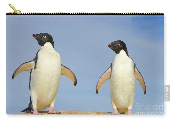 Adelie Penguin Duo Carry-all Pouch