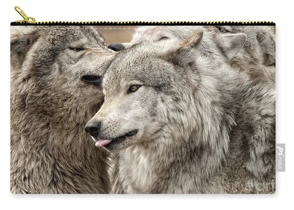 Adult Timber Wolf Carry-all Pouch