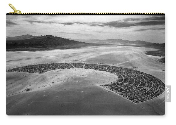 Aerial View Of Burning Man Festival Carry-all Pouch