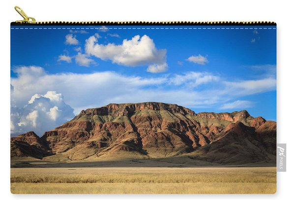 Aferican Grass And Mountain In Sossusvlei Carry-all Pouch