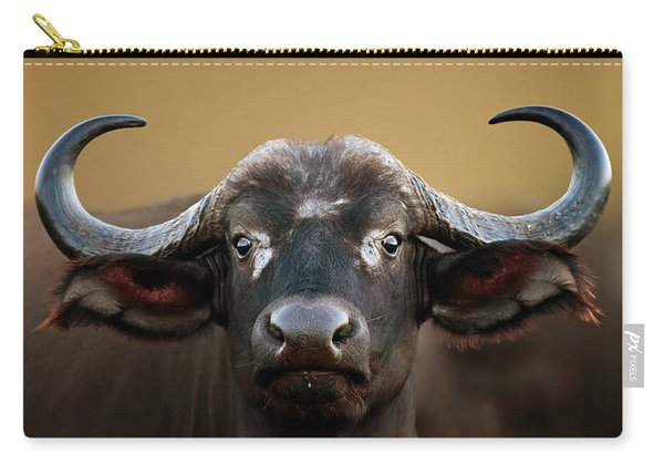 African Buffalo Cow Portrait Carry-all Pouch