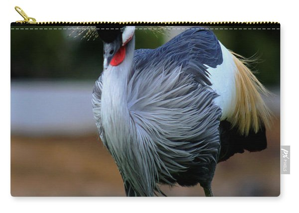 African Crowned Crane Running Carry-all Pouch