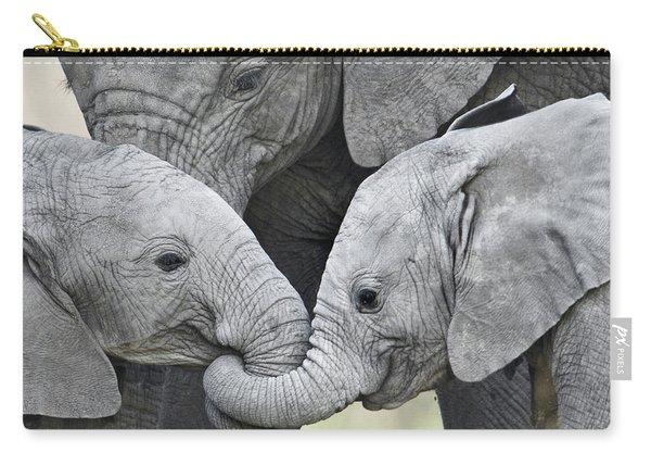 African Elephant Calves Loxodonta Carry-all Pouch
