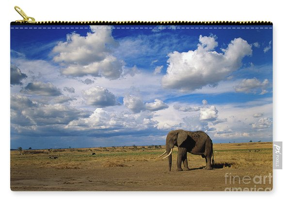 African Elephant Walking Masai Mara Carry-all Pouch