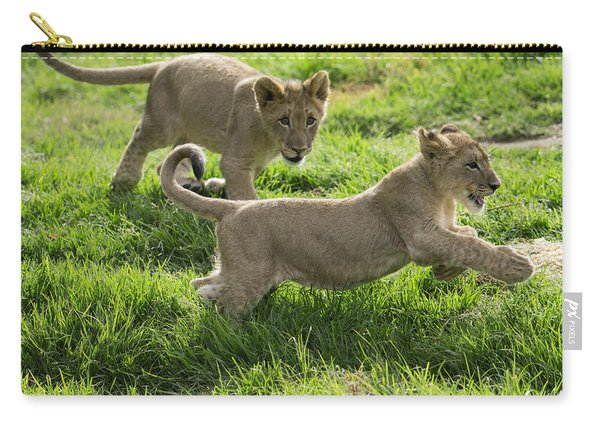 African Lion Cubs Playing Carry-all Pouch