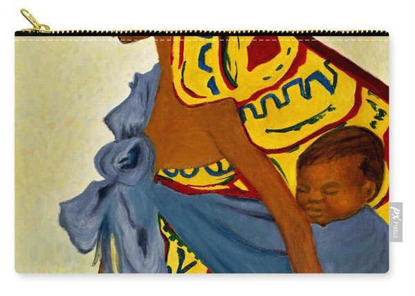 African Mother And Child Carry-all Pouch