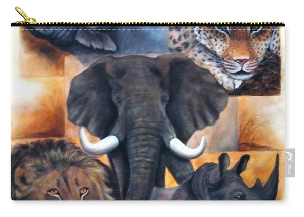 Africas Big Five Carry-all Pouch