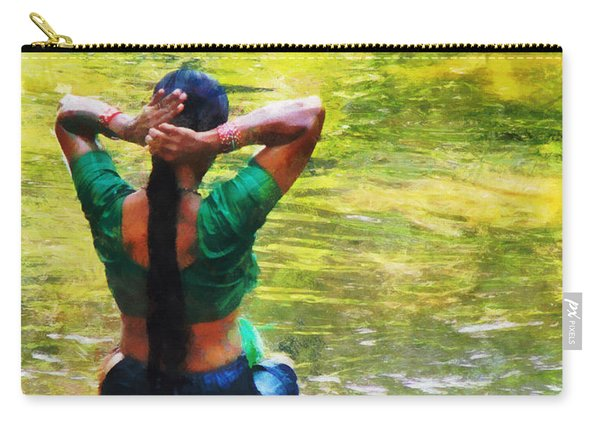 After The River Bathing. Indian Woman. Impressionism Carry-all Pouch