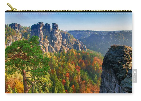After The Sunrise On The Bastei Carry-all Pouch