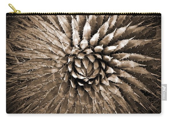 Agave Spikes Sepia Carry-all Pouch