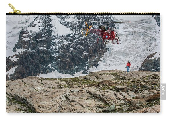 Air Zermatt Rescue Helicopter Picking Carry-all Pouch