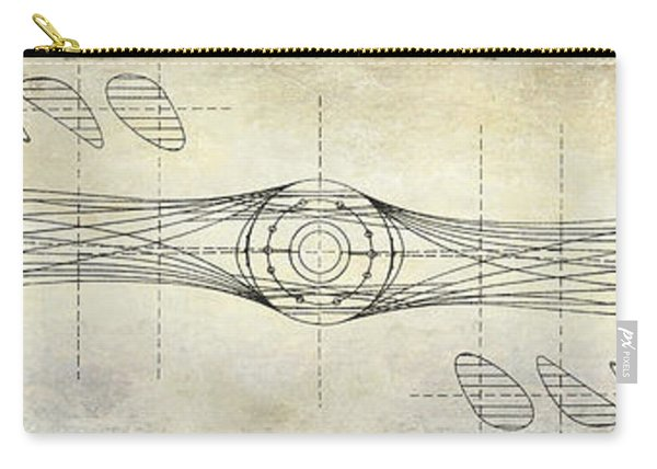 Aircraft Propeller Blueprint Drawing Carry-all Pouch