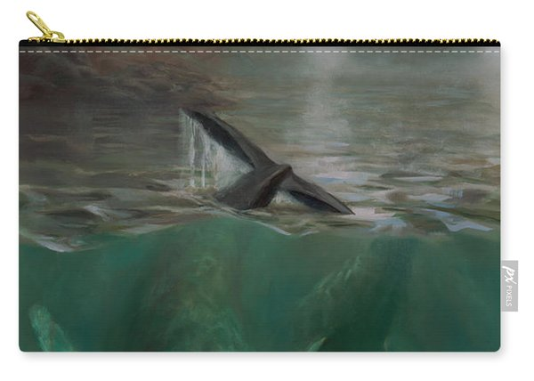 Humpback Whales - Underwater Marine - Coastal Alaska Scenery Carry-all Pouch