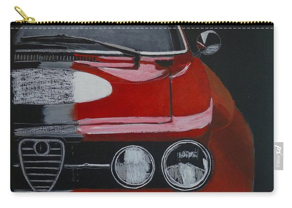 Carry-all Pouch featuring the painting Alfa Romeo Gtv  by Richard Le Page