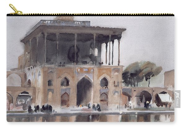 Ali Qapu Palace, Isfahan, 1994 Wc On Paper Carry-all Pouch