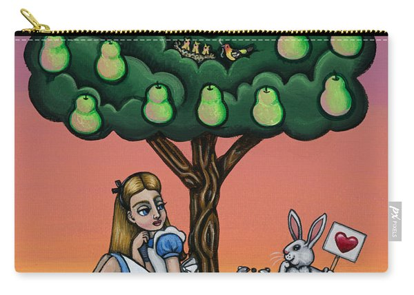 Alice In Wonderland Art Carry-all Pouch
