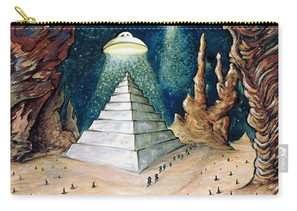 Alien Invasion - Space Art Painting Carry-all Pouch