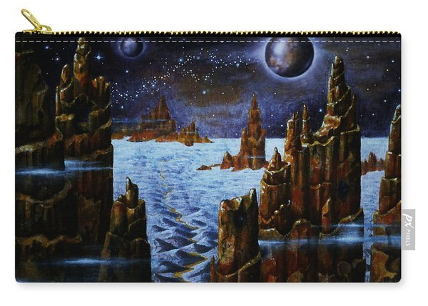 Ice And Snow  Planet  Carry-all Pouch