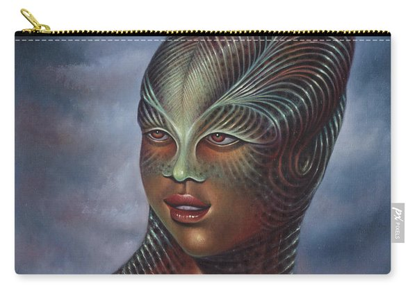 Alien Portrait I Carry-all Pouch