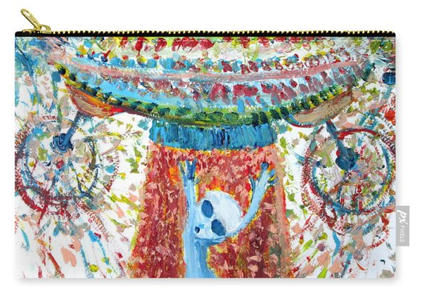 Aliens Abducting An Alien-cosmic Darwinism Carry-all Pouch